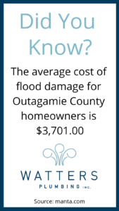 The average cost of flood damage for Outagamie County homeowners is $3,701.