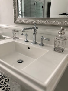 Opting for a pedestal sink can help you save space.